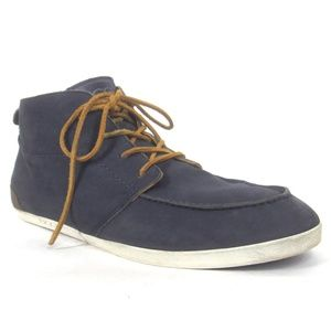 Ugg Mens Leather Chukka Boots Lace Up Shoes Blue